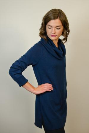 womens-blue-cowl-sweater