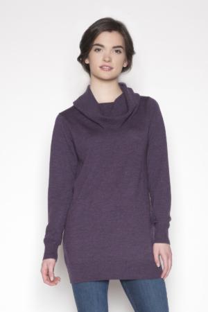 womens-purple-cowl-sweater