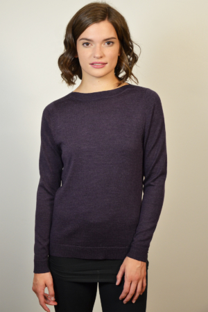 womens-purple-boat-neck-sweater